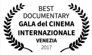 Gala del Cinema INternazionale Venezia 2017 Best Documentary Award